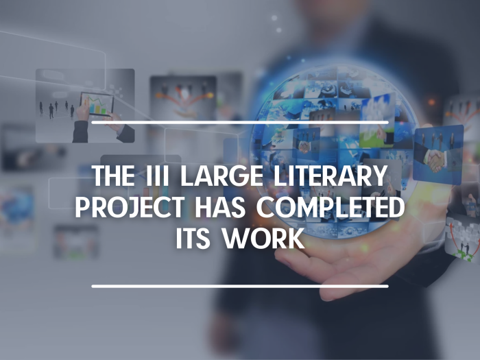 The 3rd Large Literary Online Project Sums Up Results